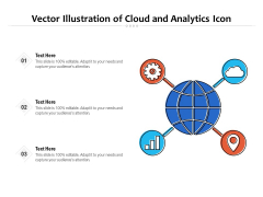 Vector Illustration Of Cloud And Analytics Icon Ppt PowerPoint Presentation File Skills PDF