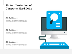 Vector Illustration Of Computer Hard Drive Ppt PowerPoint Presentation Gallery Icon PDF