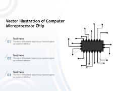 Vector Illustration Of Computer Microprocessor Chip Ppt PowerPoint Presentation Gallery Introduction