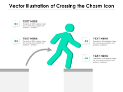 Vector Illustration Of Crossing The Chasm Icon Ppt PowerPoint Presentation Icon Pictures PDF