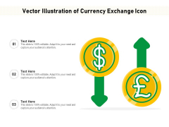 Vector Illustration Of Currency Exchange Icon Ppt PowerPoint Presentation Gallery Brochure PDF