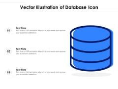 Vector Illustration Of Database Icon Ppt PowerPoint Presentation Gallery Example PDF
