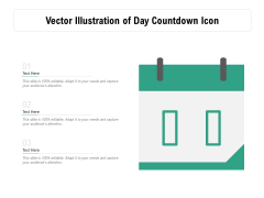 Vector Illustration Of Day Countdown Icon Ppt PowerPoint Presentation Summary Introduction PDF