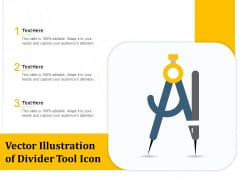 Vector Illustration Of Divider Tool Icon Ppt PowerPoint Presentation File Files PDF
