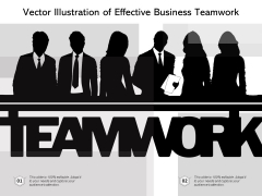 Vector Illustration Of Effective Business Teamwork Ppt PowerPoint Presentation Visual Aids Icon PDF