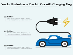 Vector Illustration Of Electric Car With Charging Plug Ppt PowerPoint Presentation Gallery File Formats PDF