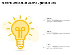 Vector Illustration Of Electric Light Bulb Icon Ppt PowerPoint Presentation Gallery Design Templates PDF