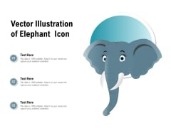 Vector Illustration Of Elephant Icon Ppt PowerPoint Presentation Infographics Files
