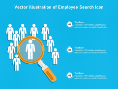 Vector Illustration Of Employee Search Icon Ppt PowerPoint Presentation File Samples PDF