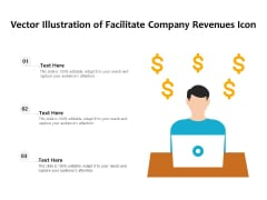 Vector Illustration Of Facilitate Company Revenues Icon Ppt PowerPoint Presentation File Samples PDF