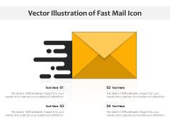 Vector Illustration Of Fast Mail Icon Ppt PowerPoint Presentation Infographics Portfolio PDF