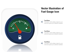 Vector Illustration Of Fuel Gauge Icon Ppt PowerPoint Presentation Layouts Graphics Design PDF