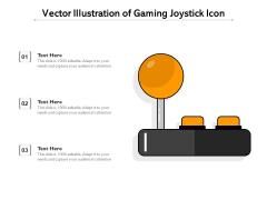 Vector Illustration Of Gaming Joystick Icon Ppt PowerPoint Presentation Gallery Mockup PDF