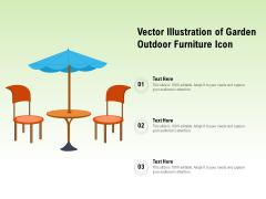 Vector Illustration Of Garden Outdoor Furniture Icon Ppt PowerPoint Presentation Gallery Information PDF
