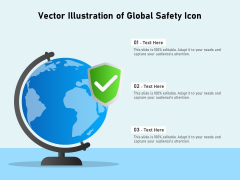 Vector Illustration Of Global Safety Icon Ppt PowerPoint Presentation Infographics Outfit PDF