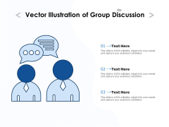 Vector Illustration Of Group Discussion Ppt PowerPoint Presentation Infographic Template Background Images