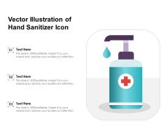 Vector Illustration Of Hand Sanitizer Icon Ppt PowerPoint Presentation Slides Themes PDF