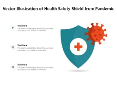 Vector Illustration Of Health Safety Shield From Pandemic Ppt PowerPoint Presentation Gallery Summary PDF