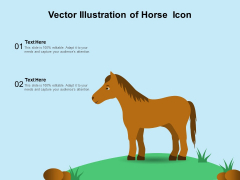 Vector Illustration Of Horse Icon Ppt PowerPoint Presentation Inspiration Guidelines