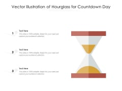 Vector Illustration Of Hourglass For Countdown Day Ppt PowerPoint Presentation Infographics Template PDF