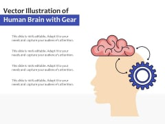 Vector Illustration Of Human Brain With Gear Ppt PowerPoint Presentation Infographics Graphics PDF