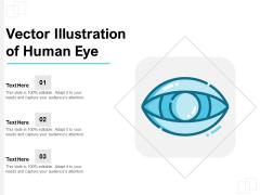 Vector Illustration Of Human Eye Ppt PowerPoint Presentation Professional Format PDF