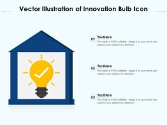 Vector Illustration Of Innovation Bulb Icon Ppt PowerPoint Presentation Gallery Example PDF