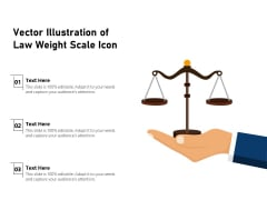 Vector Illustration Of Law Weight Scale Icon Ppt PowerPoint Presentation Layouts Good PDF