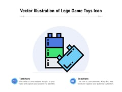 Vector Illustration Of Lego Game Toys Icon Ppt PowerPoint Presentation Gallery Outfit PDF