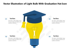 Vector Illustration Of Light Bulb With Graduation Hat Icon Ppt PowerPoint Presentation Model Slide Portrait