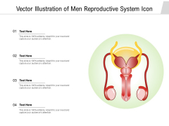 Vector Illustration Of Men Reproductive System Icon Ppt PowerPoint Presentation Gallery Design Inspiration PDF