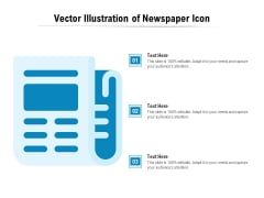 Vector Illustration Of Newspaper Icon Ppt PowerPoint Presentation Gallery Professional PDF