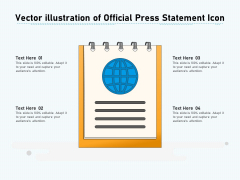 Vector Illustration Of Official Press Statement Icon Ppt PowerPoint Presentation File Diagrams PDF