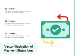 Vector Illustration Of Payment Status Icon Ppt PowerPoint Presentation File Samples PDF