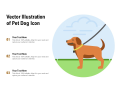 Vector Illustration Of Pet Dog Icon Ppt PowerPoint Presentation Slides Examples