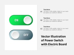 Vector Illustration Of Power Switch With Electric Board Ppt PowerPoint Presentation Icon Templates PDF