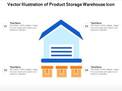 Vector Illustration Of Product Storage Warehouse Icon Ppt PowerPoint Presentation Gallery Infographics PDF