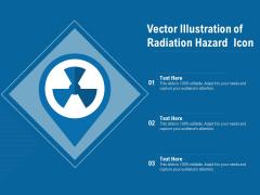 Vector Illustration Of Radiation Hazard Icon Ppt PowerPoint Presentation Summary Professional PDF