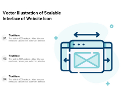 Vector Illustration Of Scalable Interface Of Website Icon Ppt PowerPoint Presentation Icon Background Images PDF