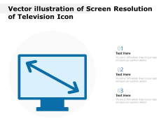 Vector Illustration Of Screen Resolution Of Television Icon Ppt PowerPoint Presentation Icon Outline PDF