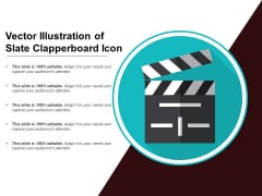 Vector Illustration Of Slate Clapperboard Icon Ppt PowerPoint Presentation Styles Graphics Template PDF