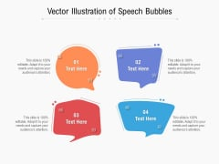 Vector Illustration Of Speech Bubbles Ppt PowerPoint Presentation Professional Background
