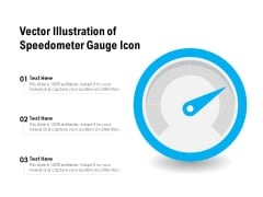 Vector Illustration Of Speedometer Gauge Icon Ppt PowerPoint Presentation File Outline PDF
