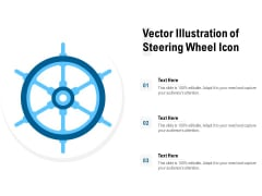 Vector Illustration Of Steering Wheel Icon Ppt PowerPoint Presentation Gallery Guide PDF