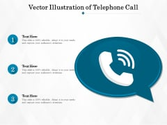 Vector Illustration Of Telephone Call Ppt PowerPoint Presentation Gallery Background Designs