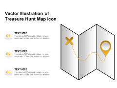 Vector Illustration Of Treasure Hunt Map Icon Ppt PowerPoint Presentation Inspiration Portfolio PDF