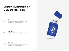 Vector Illustration Of USB Device Icon Ppt PowerPoint Presentation Portfolio Picture PDF