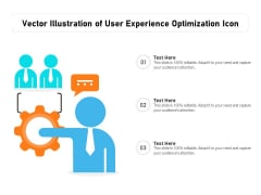 Vector Illustration Of User Experience Optimization Icon Ppt PowerPoint Presentation Pictures Example PDF