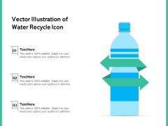 Vector Illustration Of Water Recycle Icon Ppt PowerPoint Presentation Summary Guidelines PDF