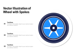 Vector Illustration Of Wheel With Spokes Ppt PowerPoint Presentation File Sample PDF